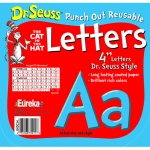 Dr Seuss Punch Out Deco Letters Blu
