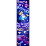 Alice In Wonderland Right Direction Vertical Banner