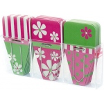 Daisy Clip Tabs Pack Of 24 Pink Grn