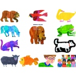 Eric Carle Brown Bear Brown Bear What Do You See Flannelboard Set