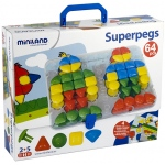 Super Pegs Board  4 Cards & 64 Pegs