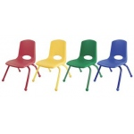 "ECR4Kids 12"" Stack Chair - Matching Legs-6pc-AS"