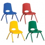 "ECR4Kids 12"" Stack Chair - Matching Legs-6pc-ASG"