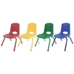 "ECR4Kids 14"" Stack Chair - Matching Legs-6pc-AS"