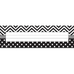 B&w Chevron And Dots Name Plates