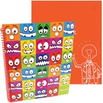 Stylez Lil Monsters 70 Pg Spiral Notebook