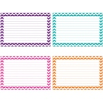 Border Index Cards 3x5 Lined 75ct Chevron