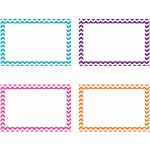 Border Index Cards 4x6 Blank 75ct Chevron