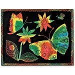 Scratch-Art Board 10 Sht Multi Color Soft-Scratch Board