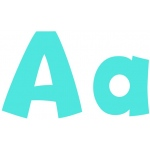 Sky Blue 4 In Playful Combo Pack Ready Letters