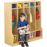 Jonti-Craft Coat Locker with Step: 5 Sections