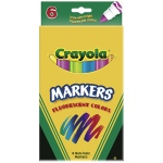 Crayola Markers 6ct Fluorescent Colors Conical Tip