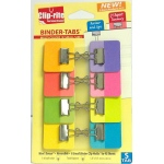 Binder Tabs 8pk Assorted Colors With X Small Clips