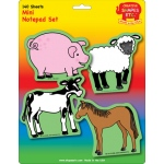 Farm Animals Set Mini Notepad