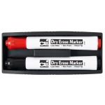 Magnetic Whiteboard Eraser With Two Markers