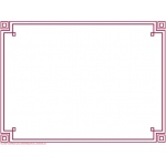 Four Square Border Paper Plum