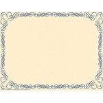 Arabesque Border Paper Blue
