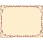 Arabesque Border Paper Plum