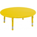 "ECR4Kids 45"" Round Resin Adjustable Activity Table: Yellow"