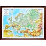 Europe Basic Map Framed: 3D Maps With Panoramic Effect