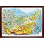 Russia Basic Map Framed: 3D Maps With Panoramic Effect