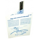Microslide The Life Cycle of Malaria: Set of 10 with Box