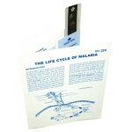 Microslide The Life Cycle of Malaria: Set of 15 with Box