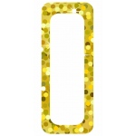 Die Cut Magnets Gold Sparkle Name Plates
