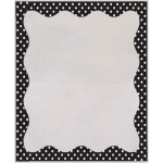 B/w Dots Border 3 1/2 X 5 Clear View Self Adhesive Library Pockets