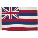 3x5 Nylon Hawaii Flag Heading & Grommets