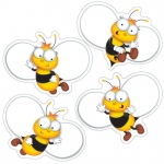 Buzz-Worthy Bees Colorful Cut Outs