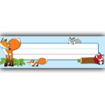 Playful Foxes Name Plates