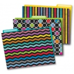 Colorful Chalkboard Folders