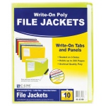 C-Line 10bx Asst Write On Poly File Jackets