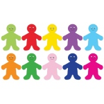 Die Cut Accents 7in Rainbow People