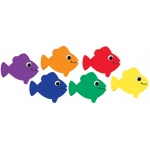 Die Cut Accents Multicolor Fish