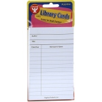 Bright Library Cards White 500 Ct