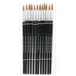 Brushes Water Color Pointed #7 3/4 Camel Hair 12 Ct