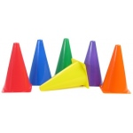 American Education Plastic Cones: 9 Inch, Blue