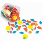 Plastic Pattern Blocks Brights 0.5cm Thick
