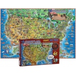500 Pc Dinos Childrens Us Map Jigsaw Puzzle United States Map