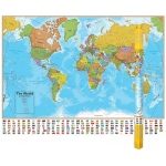 Hemispheres Laminated Map World