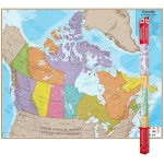 Hemispheres Laminated Map Canada