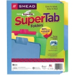 Smead 24pk Supertab Letter Size Folders Assorted Colors