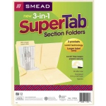 Smead 3 N 1 Supertab Section Manila Folder