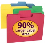 Smead 100bx Asst Colors Supertab Letter Size Folders