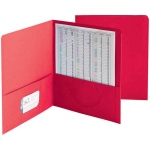Smead 25ct Red Standard Two Pocket Folders