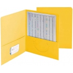 Smead 25ct Yellow Standard Two Pocket Folders