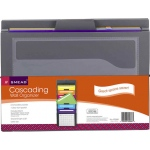 Smead Cascading Wall Organizer Gray With Bright Pockets