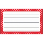 Polka Dots Terrific Index Cards Lined